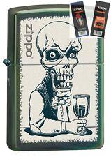 Zippo 28679 skeleton bartender Lighter with *FLINT & WICK GIFT SET*