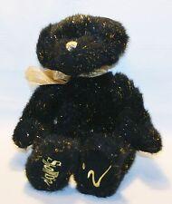 "Russ Berrie VERY RARE ""BIZZIE"" The Showbiz Bear Black Gold HTF #70374 Plush 14"""