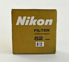 Original Nikon B12 52mm Blue Filter