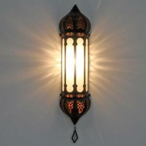 """Orientalische Lampe Marokkanische Wandleuchte """"Ruya Weiß"""" Mediterrane Wandlampe"""