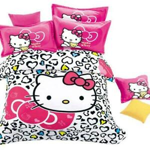 Kids Hello Kitty NEW COLLECTION Bedding Duvet Cover Bedding Set Twin Full/Queen