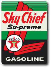 "SKY CHIEF TEXACO SUPER HIGH GLOSS RECTANGLE OUTDOOR 4"" x 5"" DECAL STICKER"