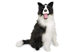 Giant Border Collie Christmas Holiday Gift Lifelike Stuffed Animal Dog 2 Feet