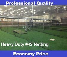 Baseball Batting Cage Net Netting #42 (54 Ply) HDPE 14' x 14' x 55'