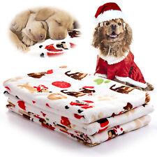 Puppy Blanket Pet Fleece Cushion Dog Cat Bed Soft Warm Sofa Sleep Mat Xmas Gift