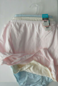 3 Vanity Fair Cotton Panty Full Brief 15319 Set 10 3XL NWT Pink Yellow Blue