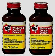 2 DAP Weldwood Rubber Contact Cement Glue Water Resistant High Strength 3 oz NEW