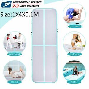 Inflatable Mat Gymnastics Air Tumbling Floor Yoga Training Exercise Gym w/ Pump