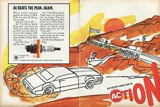 1968 AC Fire Ring Spark Plugs Pikes Peak Hill Climb Action 2 Page Print Ad