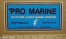 2 Pro Marine 100 Octane Gasoline Bearden Oil Company boat sticker decal 1990s