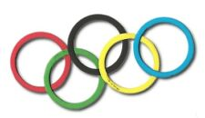 20 coloured ring die cuts hoopla olympic london olympics card making craft 5x5cm