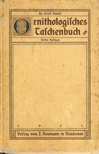 Schäff Ornithologisches Taschenbuch für Jäger und Jagdfreunde 1921 Vögel Jagd