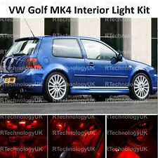 RED PREMIUM VW GOLF MK4 IV INTERIOR LED CAR LIGHT KIT PURE XENON BULBS GTI