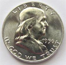 1956 50C Franklin Half Dollar 90% Silver BEAUTIFUL UNCIRCULATED mirror image
