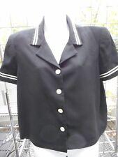 Women's Sailor Jacket-Short sleeve size 12-Talbots-black with white strips-Costu