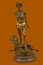 CLEARANCE SALE Young Tarzan Killing Leopard Bronze Statue Sculpture Figurine