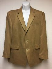 """""""CHAPS"""" Men's Sport Jacket 100% Polyester 46L Browns Suede Feel, Dry Clean Only!"""