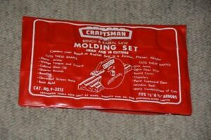 Craftsman Bench & Radial Saw Moulding set head 17 cutters