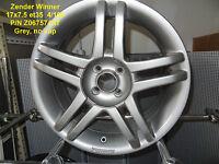 GENUINE ZENDER WINNER WHEEL 17x7.5 GREY 4x100 ALLOY RIM MAG SPARE