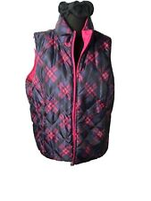 womens puffer vest size m Plaid And Hot Pink Reversible Equestrian  Like