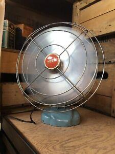 Vintage Zero Model 10498 4 Blade Fan Industrial Decor Booneville Missouri Works!