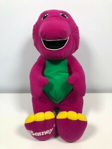 "Barney The Purple Talking Dinosaur 16.5"" Interactive Plush Playskool 1996 - VGC"