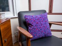 Cushion Made From Northern Class 333 Train Moquette