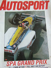 AUTOSPORT MAGAZINE MAY 1986 SPA GRAND PRIX F1 F3000 ACTION PORSCHE 961 PROJECT