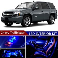 14pcs LED Blue Light Interior Package Kit for Chevy Trailblazer 2002-2009