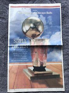 June 18 1998 Chicago Tribune Original Newspaper Chicago Bulls Michael Jordan