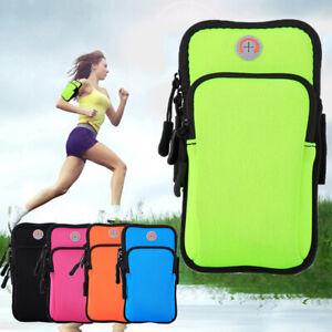 Sport Arm Band CaseMobile Cell Phone Holder Running Zipper Bag Universal