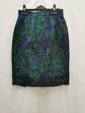 Monsoon Twilight ladies short skirt silk metallic blue mix size 10-12