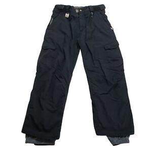 686 Ridge Smarty Youth Boys Size Large Black Snowboard Snow Ski Pants NO LINER