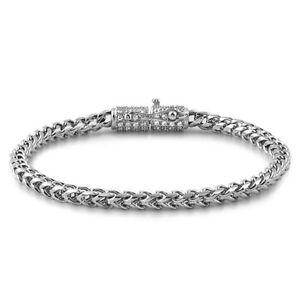 Stainless Steel Silver Luxury Edition Mens Franco Bracelet