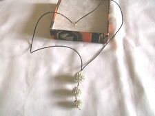 Hermosa Claro Cristal Shamballa Colgante Collar Con Cable Negro, Cierre De 925 (Lote 2