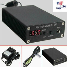 1mw 87-109MHZ Stereo FM MP3Home Transmitter Mini Radio Station w/Power supply