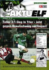 II. BL 2002/2003 VfB Lübeck - Eintracht Braunschweig, 24.11.2002