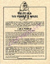 Rules In A Toy Poodle's House