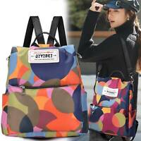 Women Anti-theft Travel Waterproof Backpack Rucksack Shoulder Oxford Cloth Bags