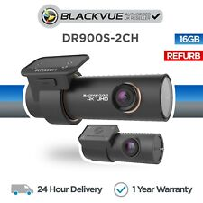 BlackVue DR900S-2CH 4K Front and Rear Dash Cam Wi-Fi GPS (16GB) - Refurbished