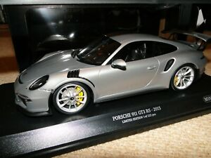 1/18 Minichamps Porsche 911 (991) GT3 RS Silver Sealed Diecast 1 of 222