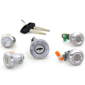 83-88 TOYOTA COROLLA EE80 AE80 82 CE80 FIT IGNITION DOOR FUEL TRUNK LID LOCK SET