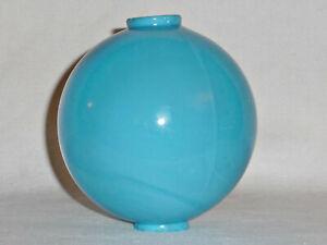 Antique Milk Glass Lightning Rod Ball Robin Egg Blue Swirl WI Farmhouse Barn