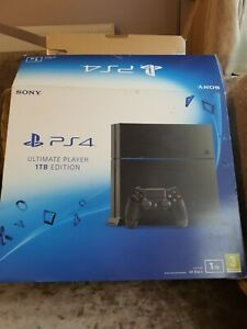 Playstation 4 1TB EMPTY BOX ONLY With Inserts And Instructions