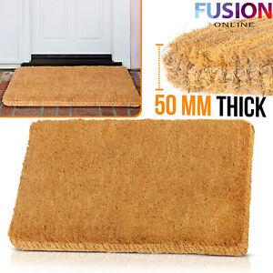 Heavy Duty Coir Door Mat Outdoor Indoor Doormat Non Slip Matting 50 mm Thick