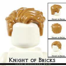 LEGO Minifigure Hair MEDIUM DARK FLESH 23186 Male Short Swept Left Tousled