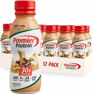 Premier Protein 30g Protein Shake, Cafe Latte, 11.5 Fl Oz, Pack of 12, Café Latt