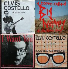 "Elvis Costello   -  5x Vinyl Single (7"", 45RPM)"