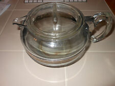 VTG Pyrex 8126B 6 CUP TEA POT BLUE FLAMEWARE nice piece GUC