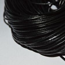 Lot de 5 mètres de fils de cuir noir